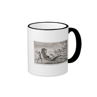Catching an alligator with lasso ringer coffee mug