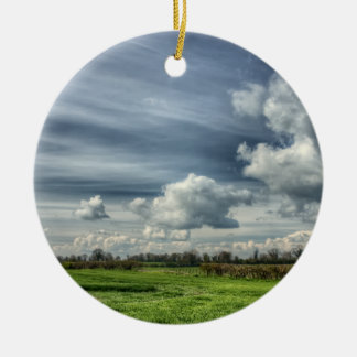 Catching Clouds (color HDR) Ceramic Ornament