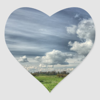 Catching Clouds (color HDR) Heart Sticker