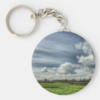 Catching Clouds (color HDR) Keychain