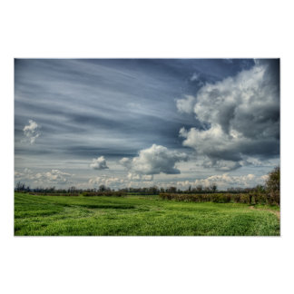 Catching Clouds (color HDR) Print