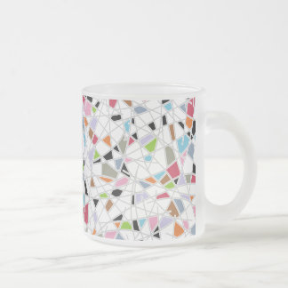 Catching Crazy Frosted Glass Coffee Mug
