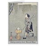 Catching crickets by Suzuki, Harunobu Ukiyoe Greeting Cards