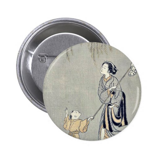 Catching crickets by Suzuki, Harunobu Ukiyoe Pins
