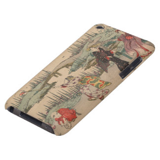 Catching Fireflies (colour woodcut) iPod Touch Cover