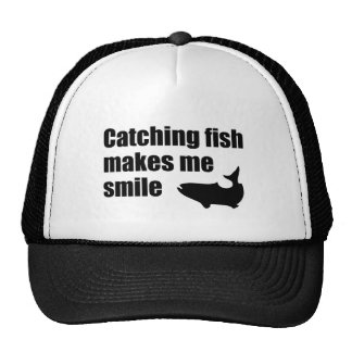 Catching fish makes me smile cap trucker hat