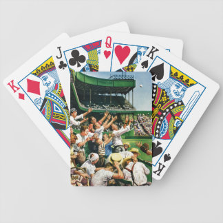 Catching Home Run Ball Bicycle Playing Cards