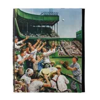 Catching Home Run Ball iPad Folio Case