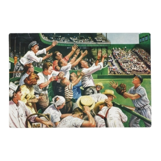 Catching Home Run Ball Placemat at Zazzle