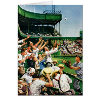 Catching Home Run Ball Stationery Note Card