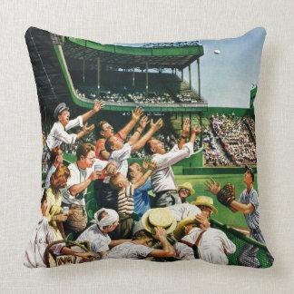 Catching Home Run Ball Throw Pillow