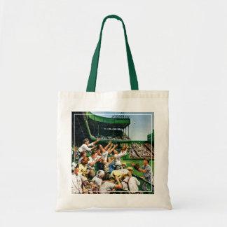 Catching Home Run Ball Tote Bag