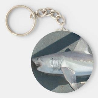 Catching Sharks Basic Round Button Keychain