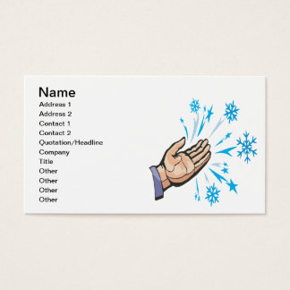 Catching Snow Flakes Business Card
