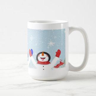 Catching Snowflakes on Tongue Snowman Mug
