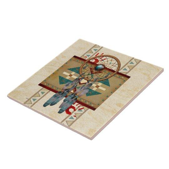 Catching Spirit Native American Ceramic Tile
