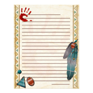 Catching Spirit Native American Letterhead Template