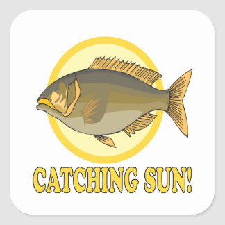 Catching Sun.png Square Sticker