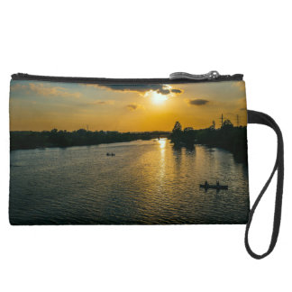 Catching the last light suede wristlet wallet