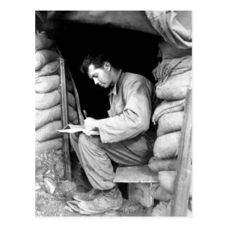 Catching up on his letters _War Image Postcard