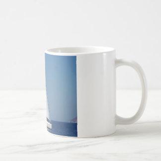 Catchup del catamarán tazas de café