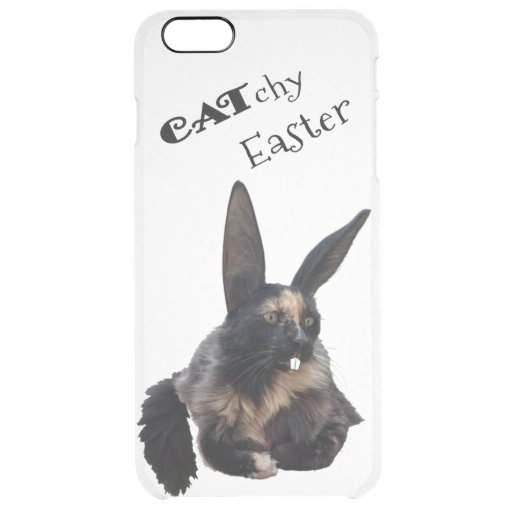 CATchy Easter ❣️ 😻 🐰 🐣 🐥 🍀 Clear iPhone 6 Plus Case