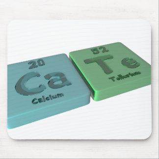 Cate as Ca Calcium and Te Tellurium Mouse Pads