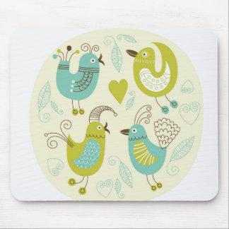 cate cartoon birds mouse pad