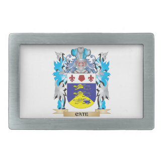 Cate Coat of Arms - Family Crest Rectangular Belt Buckle