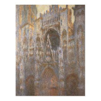 Catedral 02 de Ruán de Claude Monet Tarjetas Postales