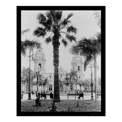 Catedral 1902 de Lima, Perú Poster