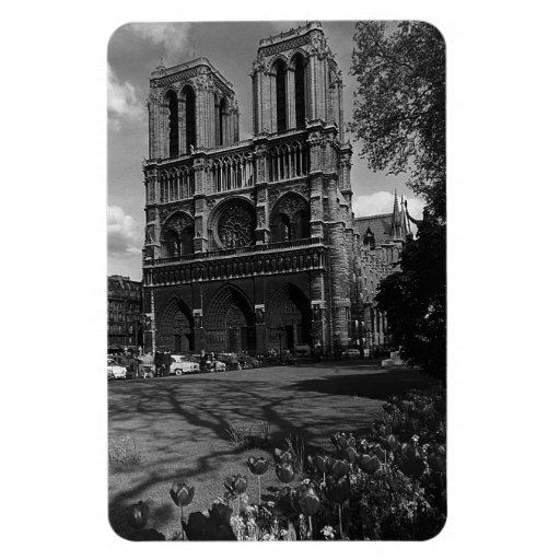Catedral 1970 de Francia París Notre Dame Imanes Rectangulares