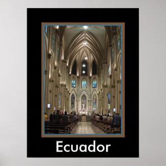 Catedral-Arcos y vidrio - Guayaquil, Ecuador Póster