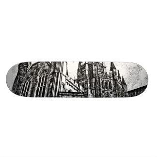 Catedral blanco y negro monopatines