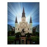 catedral brillante tarjeta postal
