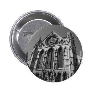Catedral Buttonbadge blanco y negro de la iglesia Pins