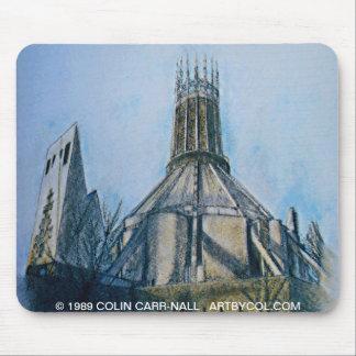 Catedral católica Liverpool de Colin Carr-Nall Mousepads