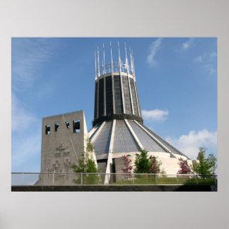 """Catedral católica - Liverpool Póster"