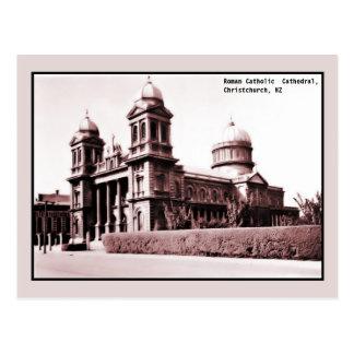 catedral Christchurch Nueva Zelanda del vintage Tarjetas Postales