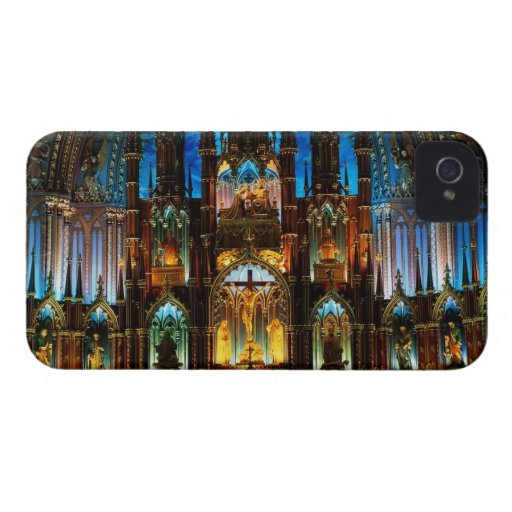 Catedral colorida iPhone 4 Case-Mate cárcasa