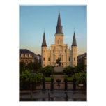 Catedral cuadrada New Orleans de Jackson St. Louis Póster