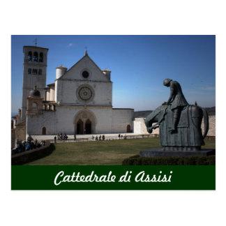 Catedral de Assisi (italiano: Di Assisi de Cattedr Tarjeta Postal