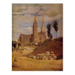 Catedral de Camilo Corot- Chartres Postal