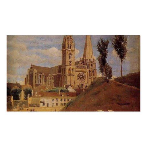 Catedral de Camilo Corot- Chartres Tarjeta Personal
