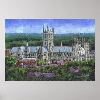 Catedral de Cantorbery de una distancia Posters