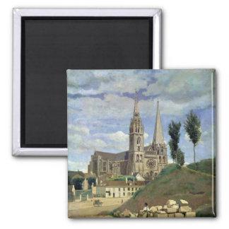 Catedral de Chartres, 1830 Imán Cuadrado