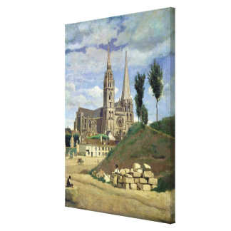 Catedral de Chartres, 1830 Impresión En Tela
