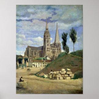 Catedral de Chartres, 1830 Póster