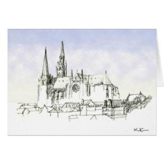 Catedral de Chartres Tarjeta De Felicitación