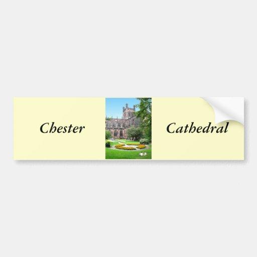 Catedral de Chester Pegatina Para Auto